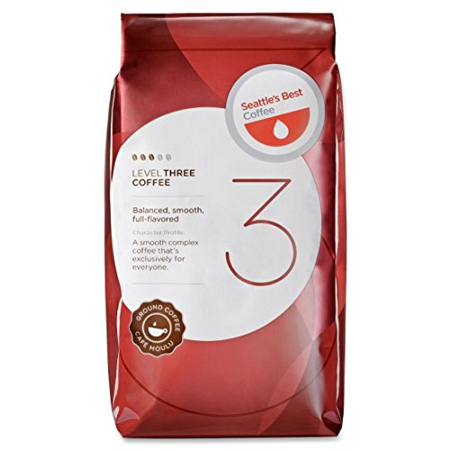Seattle's Best Coffee Ground Coffee, Medium, Level 3, 12oz. packets,6/PK., Red