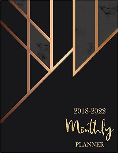 2018 2022 Monthly Planner 60 Months Calendar Monthly Schedule