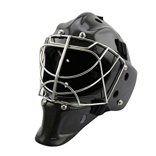 GY Professional 3K Carbon Fiber Ice Hockey Helmet Goalie Mask Senior Aerodynamic Design Size L Black …