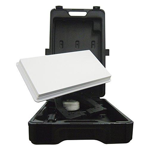 Selfsat H30D Kit de voyage avec antenne satellite plate et support pour TV HD Selfsat H 30 D Traveller Kit