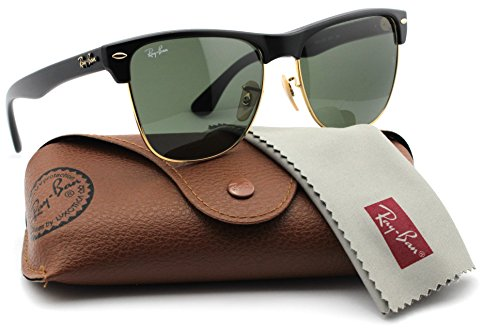 Ray-Ban RB4175 877 Clubmaster Oversized Black Frame / Classic Green Lens