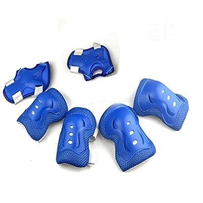 équipement de protection, Eonhuayu 6pcs Kid de skateboard pour roller poignet Coude Genouillères équipement de protection pour 3–13ans
