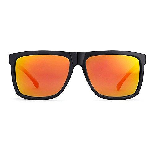 Metal para Explosive Sol Europa Hombres Gafas Sra Color Red Casual Glasses Square Polarizadas Gafas Espejo América Red Sol de De Y KTYX Piernas Anw06Ix