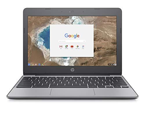 HP Chromebook 11-Inch Laptop, Intel Celeron N3060 Processor, 2 GB SDRAM, 16 GB eMMC Storage, Chrome OS (11-v000nr, Ash Gray)