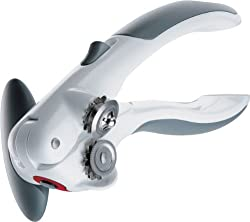 Zyliss Lock N' Lift Can Opener With Lid Lifter Magnet, White