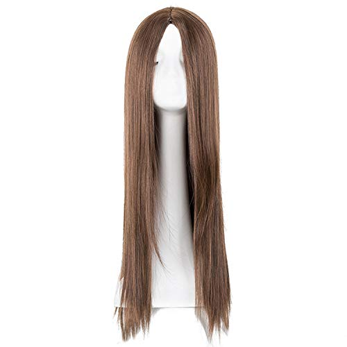 Black Wig Fei-show Synthetic Heat Resistant Long Straight Middle Part Line Cosplay Costume Hair 26 Inches Salon Party Stuffed Animals,1B/30HL,26