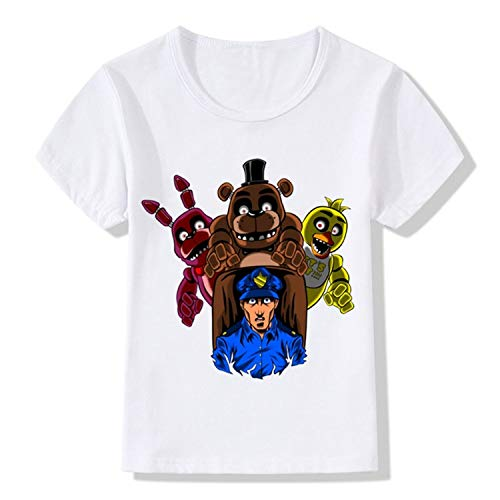 - KoreaFashion FNAF Shirt Cotton Merch Shirts for Kids Youth Birthday Welcome Funny Nightmare Gifts