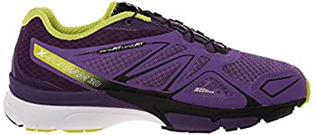 Salomon Women's X-scream 3d W Trail Running Shoe, Rain Purplecosmic Purplegecko Green, 9 B Us 6