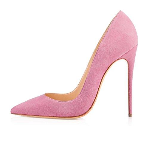 con a 12cm Alto Donna Soireelady Spillo Tacco Scarpe Pink Tacco 5qZWTRw