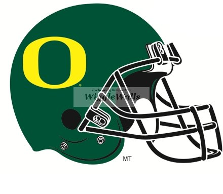 5 Inch Football Helmet Logo UO University of Oregon Ducks Removable Wall Decal Sticker Art NCAA Home Decor 5 1/2 by 4 Inches - Oregon State University Helmet