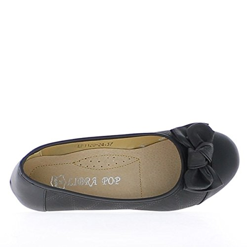 Ballerina flats black decorated with knot GHhf7
