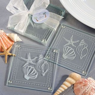 Starfish Wedding Favors | Amazon Com Beach Theme Glass Coaster Wedding Favors Seashell Quot