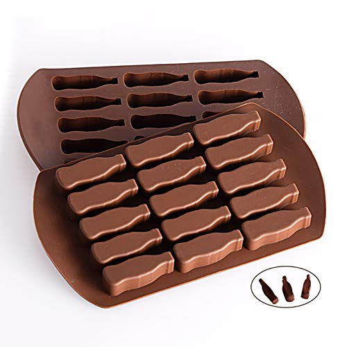 opOpb213IL Silicone Mold DIY Fondant Mould Craft Tool,Cake Mold Beer Wine Bottle Chocolate Candy Jelly Pudding Baking PVC Mould Tool - Coffee (Beer Bottle Mold)