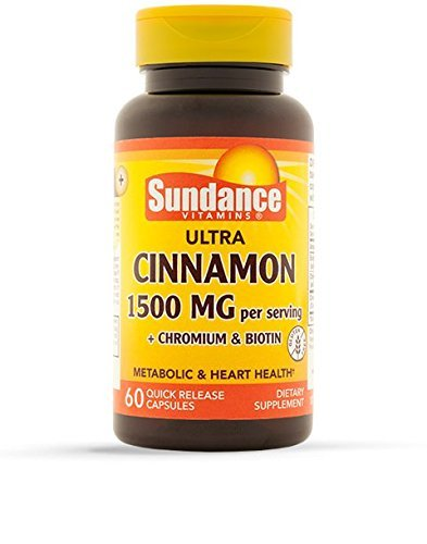Cheap Sundance Cinnamon with Biotin and Chromium Supplement Tablets, 60 Count