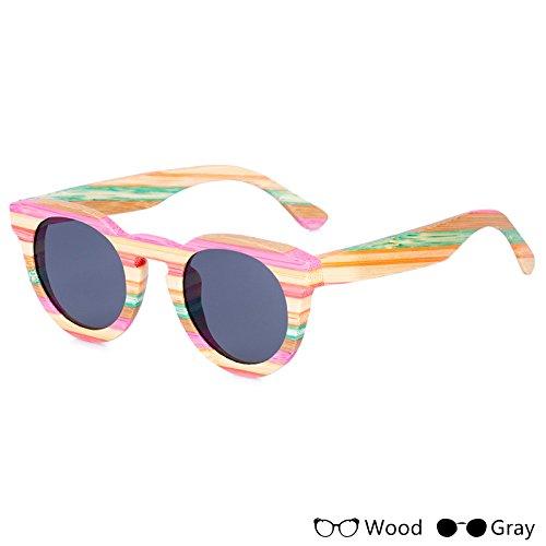 Colorido TIANLIANG04 Gafas Unisex Uv400 A Polarizadas Para De Madera Gafas La Acceso Hombres Unisex Pesca De Modo B Sol BBnSqwr5Ax