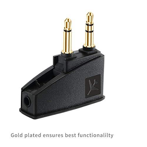 Airplane Flight QC35 Headphone Airline Adapter Replacement Bose QuietComfort 35 QuietComfort 20 QuietComfort 25 QC3 QC20 QC25 AE2 AE2I OE2 SoundLink Headphones and More Headphones with 3.5mm Jack