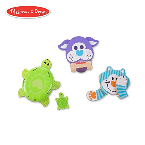 - Melissa & Doug First Play Favorite Pets Grasping Toys (4 Wooden Animal Toys)