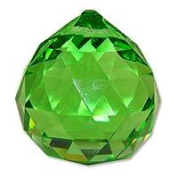 Bola de Feng Shui verde cristalina de 40 mm vintage