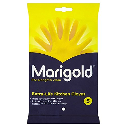 ( 6 Pack ) Marigold Extra-Life Kitchen Gloves Small