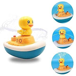 KELIWOW Bath Toys,Floating Bathtub Toys Rotation Water Spray Toys for Kids Baby Bath Toys for Toddlers Sprinkler Bath Toy