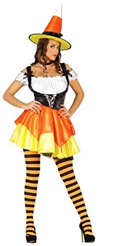 Ladies Sexy Orange Pumpkin Witch Halloween Fancy Dress Costume Outfit UK 12-18 (UK 16-18) ()