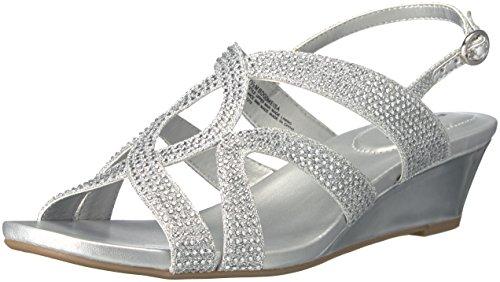meisa Wedge Sandal, Silver, 8 M US ()