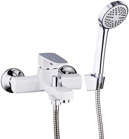 ZYL-YL ホワイト浴室の滝トイレ風呂シャワー水栓セットウォールは、バスタブ、レインシャワーの蛇口ミキサーセットをマウント