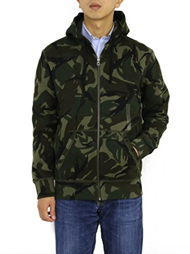 Ralph Lauren Polo Camouflage Hooded Sweat Jacket Hoodie (XX-Large)
