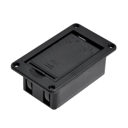 Guitar Battery Case Active Pickup 9V Battery Holder with Battery Case Cover Black Convenience and Useful Cover Case