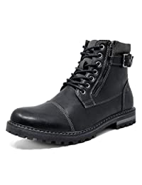 Bruno Marc Men's Engle-01 Motorcycle Combat Oxford Boots