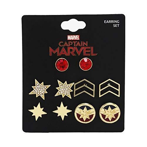 Captain Marvel Earring Set - Set of Five