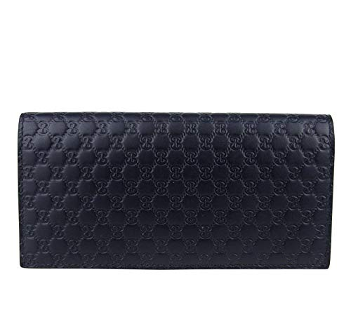 Gucci Men's Microguccissima Blue Leather Wallet With ID window 449245 4009