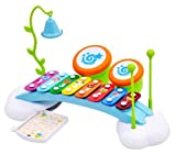 Early Education 18 Months Olds Baby Toy Rainbow Xylophone Piano Bridge with Ringing Bell and Drums for Children & Kids Boys and Girls