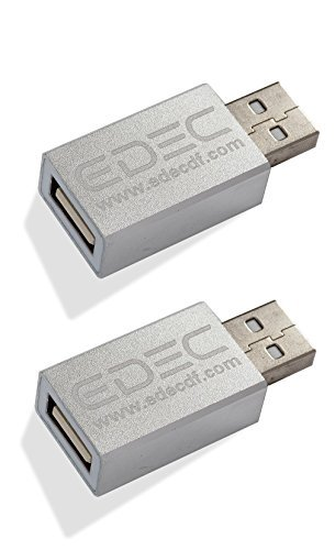 USB Data Blocker Secure Hi-Speed Charging, 2-Pack