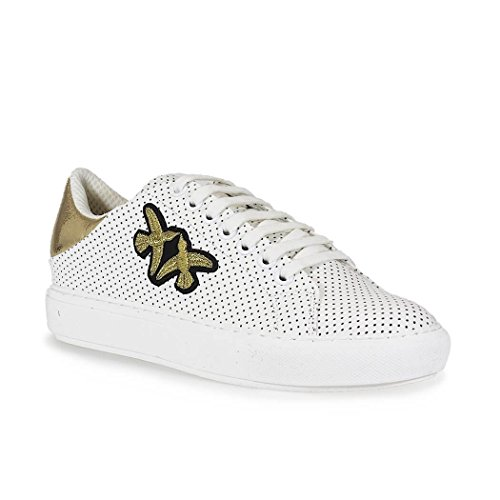 Pelle Bianco Sneakers Donna 1h209y395hz1 Pinko wtXPIS