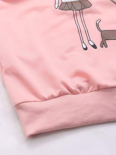 Pink Suéter Camisa Top Blusa Needra Navidad De Otoño Larga Mujer Manga Chándales Para Caliente Ocio Camisas Sudadera Confort Mantener invierno Ropa Rzqw5Fz