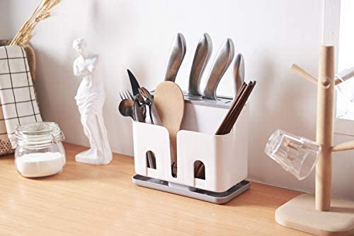 Cy Craft Silverware Caddy Utensil Holder And Knife Block Without Knives Countertop Kitchen Utensil Organizer Flatware Caddy Drying Rack Basket For Cy Craft Silverware Caddy Utensil Holder And Knife Block Without Knivescountertop Kitchen