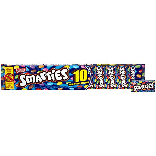 SMARTIES Snack Size (Pack of 10) Canadian import - - Candy Smarties Chocolate With