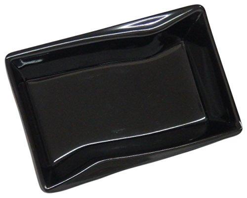 [(Set of 4) Amatahouse Black # D2135 Rectangular Soy Sauce Dish Sushi Wasabi Plates Soy Sauce Dipping Bowls Ektra Melamine] (Sushi And Kikkoman Costume)