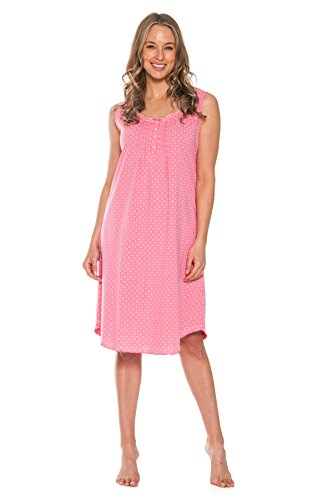 Patricia Women's 40'' Soft Sleepshirt Night Gown Dress (Strawberry, Large)