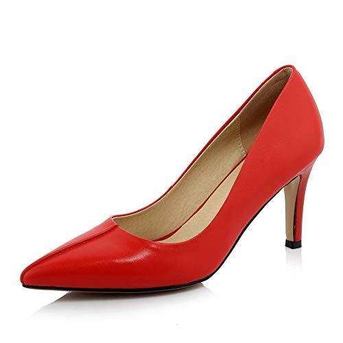 AdeeSu Femme SDC06061 Red Sandales Compensées 1YO0x1q