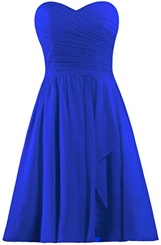 Wedding Dress Royal Sweetheart Women's Blue Dresses Short ANTS Chiffon Party Bridesmaid 8BY4qnwxa