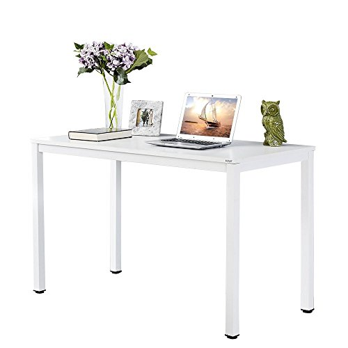(Auxley Computer 47 Inch Modern Simple Writing Desk for Home Double Deck Wood and Metal Office Table, 47