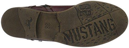 Mustang 1157-537, Botines para Mujer Rojo (55 bordeaux)