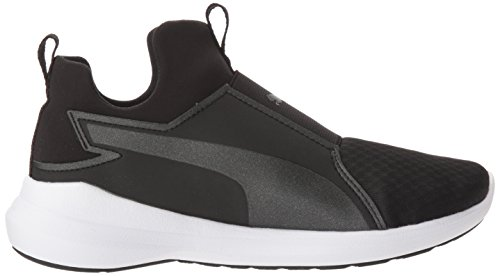 Wns puma White Sneaker Women's Rebel Puma Mid Black tZ8BB