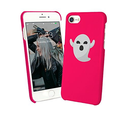 Little Cute Pink Ghost Fantom Happy Scary Girly Geek Protective Case Cover Hard Plastic iPhone XR (2018) Funny Gift Christmas for Him for Her