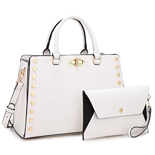 White Satchel Handbags - 9