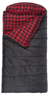 "TETON Sports Celsius XXL -18 Degree C / 0 Degree F Flannel Lined Sleeping Bag (90""x 39"")"