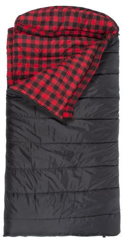TETON Sports Celsius XXL -18 Degree C  0 Degree F Flannel Lined Sleeping Bag (90x 39 Black Right Zip)