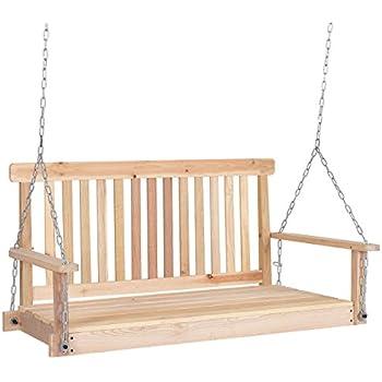 Amazon Com 4 Ft Porch Swing Wood Swing Bench Patio